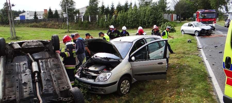 Wypadek na drodze wojewódzkiej nr 538