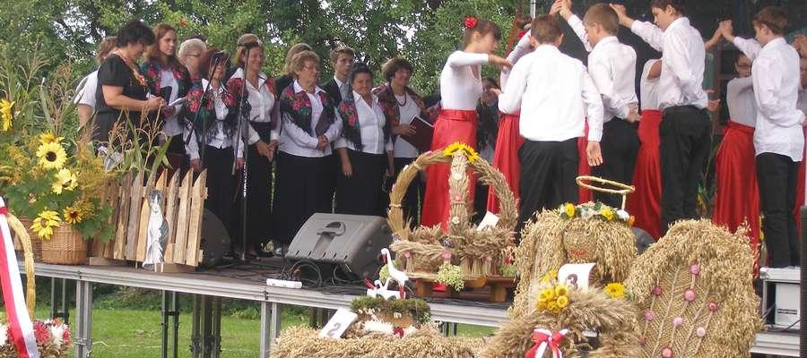 Ubiegłoroczne dożynki powiatowe w Węgielsztynie