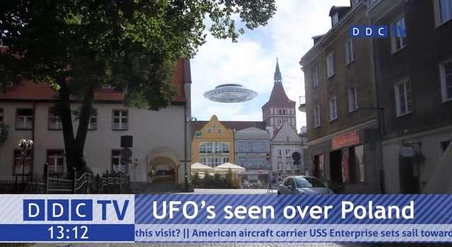 Kosmici promują Warmię. Ufo nad Jeziorem Krzywym - full image