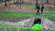 Rzeka Kumiela zaświeciła na zielono