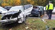 Wypadek na trasie Olsztyn-Ostróda. Rozbite trzy auta