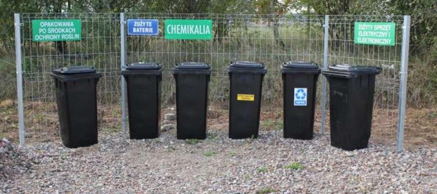 Pojemniki na odpady są przygotowane