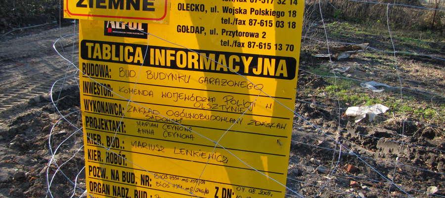 Tu na razie jest kretowisko, ale za 2 lata będzie... nowa siedziba gołdapskiej policji.