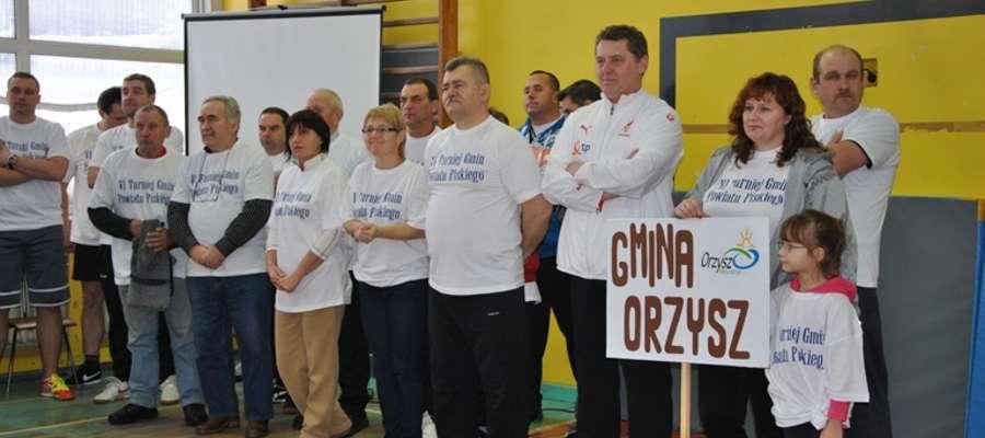 Reprezentacja gminy Orzysz podczas ubiegłorocznego turnieju