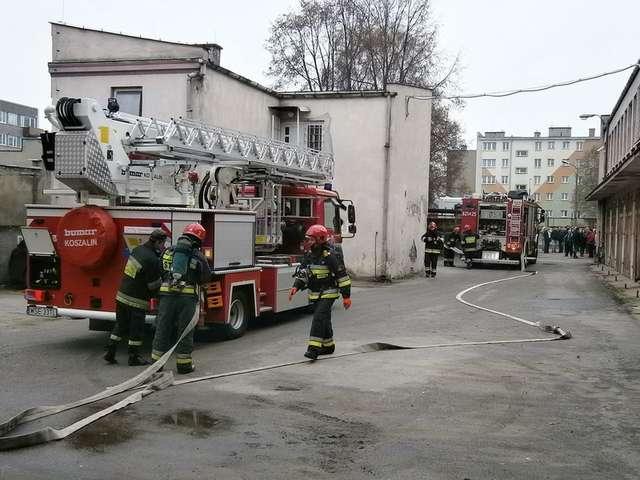 Pożar w budynku komendy. Nikt nie ucierpiał - full image