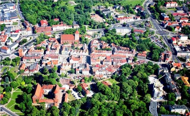Centrum Olsztyna z lotu ptaka - full image