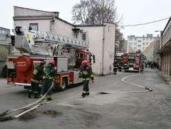 Pożar w budynku komendy. Nikt nie ucierpiał