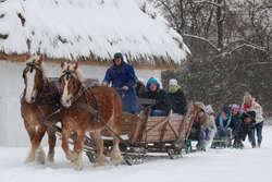 Zima w Muzeum Wsi Mazowieckiej w Sierpcu