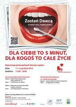 Dni Dawcy Szpiku na olsztyńskich uczelniach