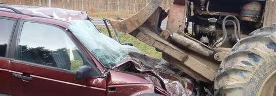 """Do wypadku doszło we wtorek (12.11.) ok. godz. 10.00 w pobliżu węzła drogowego """"Młynary"""""""
