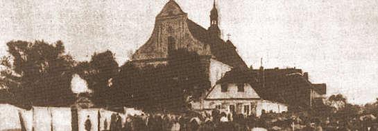 Żuromin w XIX wieku. Targ przed kościołem