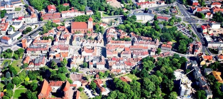 Centrum Olsztyna z lotu ptaka