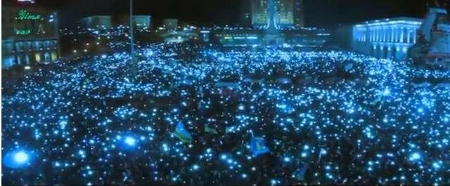 euromajdan cell phone lights