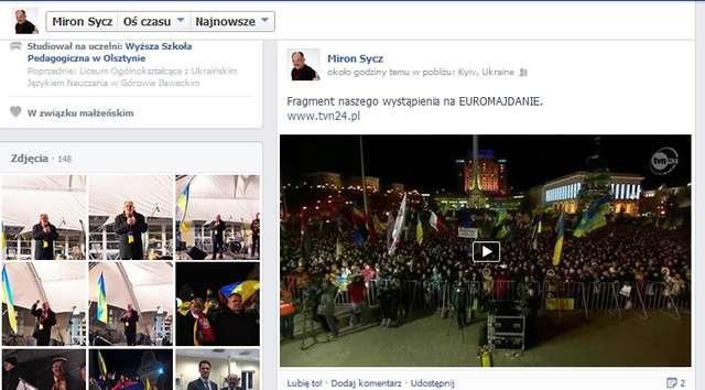 Polska, Polska...Skandował tłum w Kijowie kiedy przemawiali Schetyna i Sycz  - full image