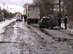 Śmiertelny wypadek w Dozinach. Ciężkie warunki na drogach!