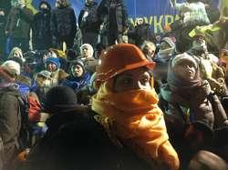 Euromajdan: obronili się wodą