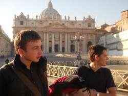 Spotkanie Młodych w Rzymie, 2012 rok. Grzegorz pierwszy z lewej.