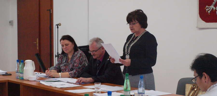 Wiceprzewodnicząca Barbara Michalska przedstawiła wniosek na wspólnym posiedzeniu komisji