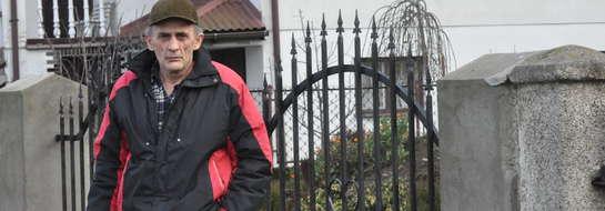 Janusz Karpiński obawia się, że nie będzie miał dostępu do swojej posesji