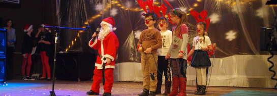 Na scenie wystąpil Św. Mikołaj