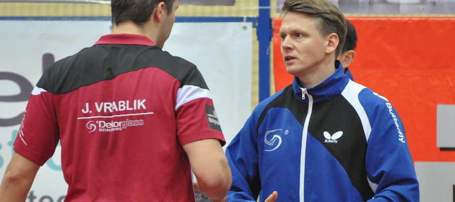 Jiri Vrablik z trenerem z Żuromina