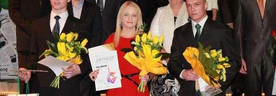 Laureaci plebiscytu na Najpopularniejszego Sportowca Roku 2012: Mateusz Nawrocki, Mateusz Zawadzki i Olga Wasiuk