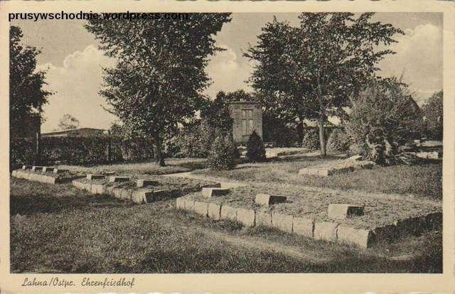 Dawny wygląd cmentarza w Łynie - full image