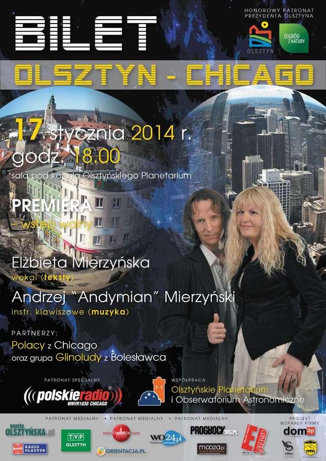 Bilet Olsztyn–Chicago  Elżbiety i Andrzeja Andymiana Mierzyńskich - full image