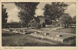Dawny wygląd cmentarza w Łynie