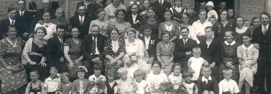 Zdjęcie z wesela Stanisława Bybra z pierwszą żoną