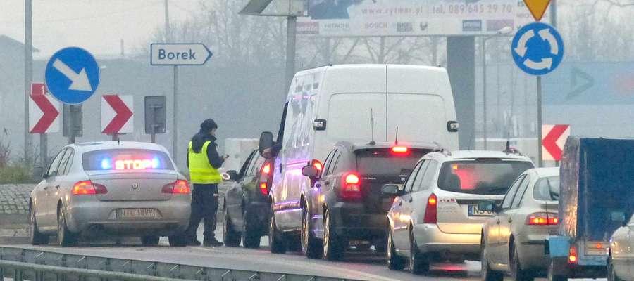 Stan trzeźwości kierowców sprawdzano m.in. na drodze krajowej nr 15 w Lubawie