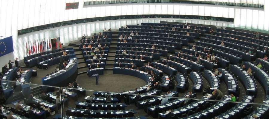 Sala obrad plenarnych Parlamentu Europejskiego w Strasburgu