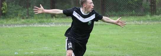 Tomasz Naruszewicz strzelił wszystkie gole dla Łyny Sępopol podczas turnieju w Gołdapi