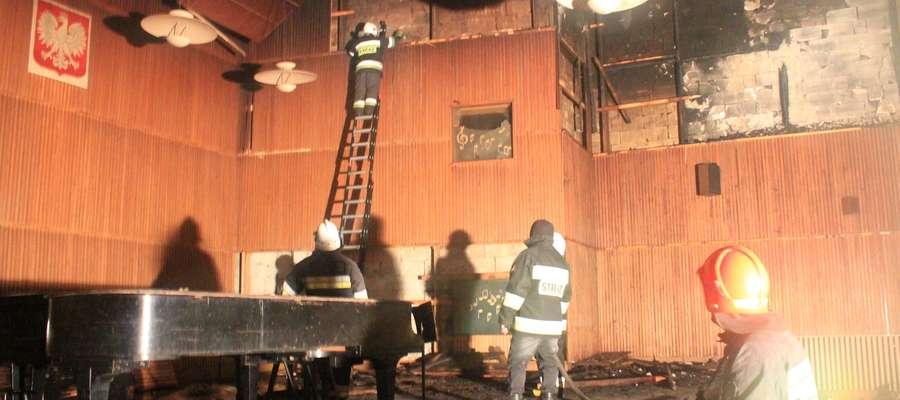 W wyniku pożaru poważnie ucierpiała sala koncertowa