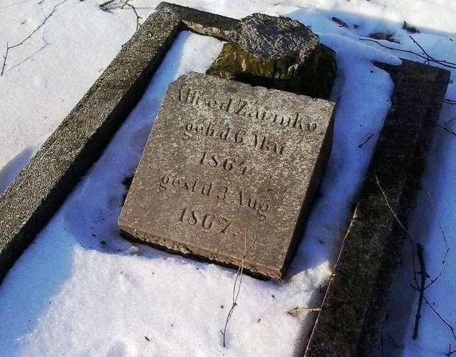 Najstarszy zachowany grób na cmentarzu w Gołdapi - full image