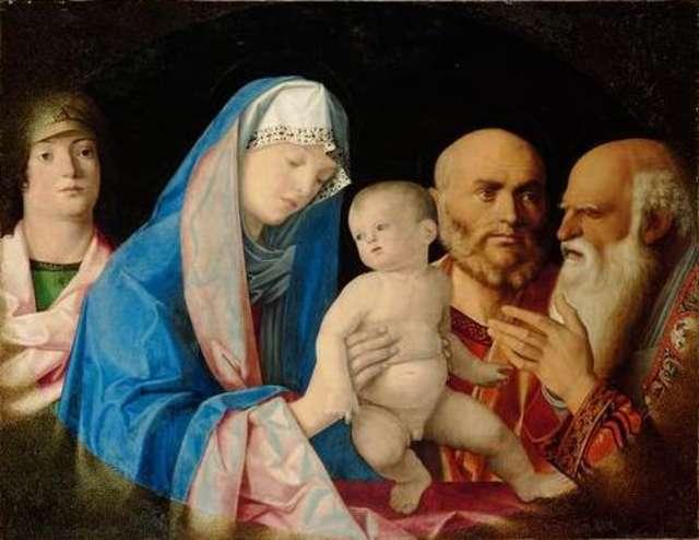nel quadro Maria presenta Gesù