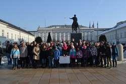 Uczniowie razem z burmistrzem Markiem Młyńskim z wizytą w Pałacu Prezydenckim