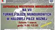 VII Turniej Służb Mundurowych w halowej piłce nożnej
