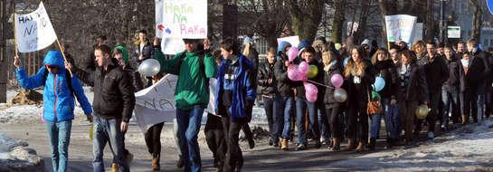 Uczniowie przemaszerowali centrum miasta