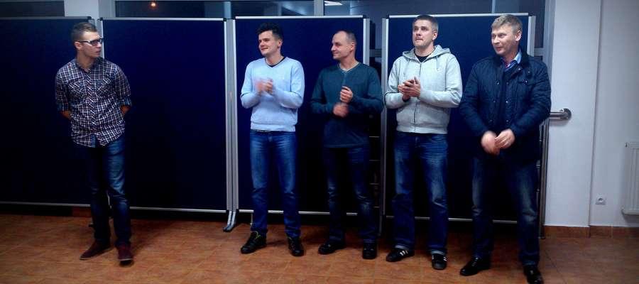 Nowy zarząd Wkry Żuromin od lewej: Michał Osiecki, Paweł Usakowski, Wojciech Błaszkiewicz, Tomasz Przyborowski i Tomasz Siemiątkowski