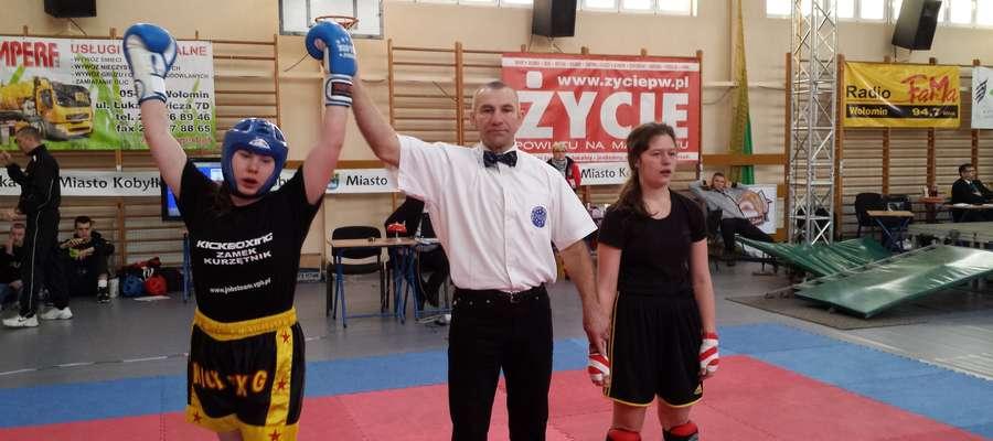 Karolina Lewalska po zwycięskiej walce