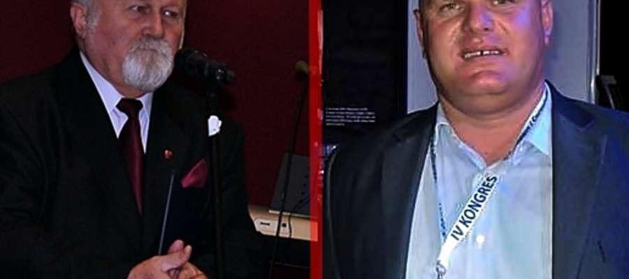 Od lewej: starosta Jan Mączewski (na spotkaniu noworocznym) i przewodniczący Andrzej Stępień