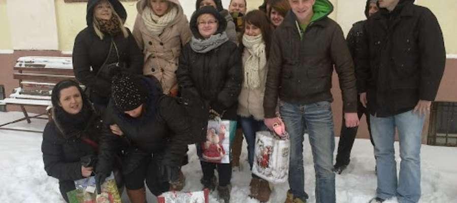 Wolontariusze z Reszla w Świętajnie.