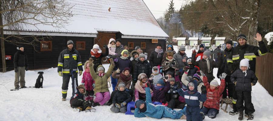 Zdjęcie grupowe uczestników feri 2014 z OSP