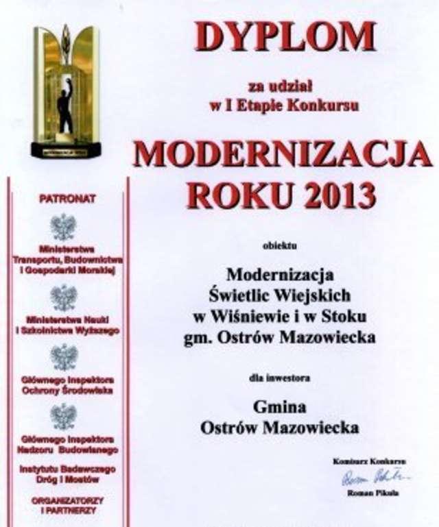 Gmina Ostrów Maz. Gminne obiekty zakwalifikowane do finału - full image