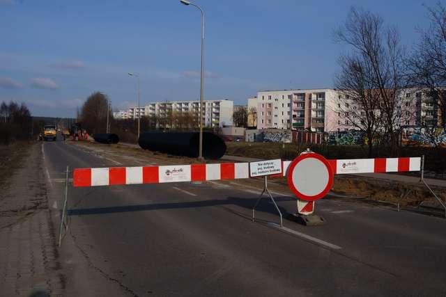 W poniedziałek (3 marca) rozpoczęto prace w połowie działdowskiej obwodnicy, na wysokości bloków    - full image