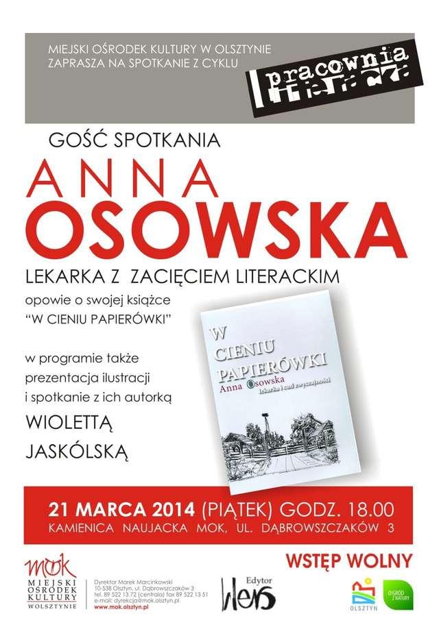 Pracownia literacka: spotkanie z Anną Osowską - full image