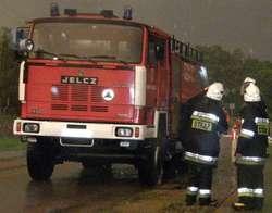 Straż gasiła w Ostrowi pożar garażu i magazynu
