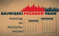 Już ponad 1000 pożarów traw na Mazowszu w tym roku