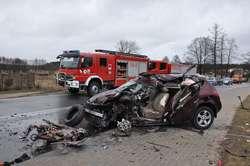 Wypadek w Snopkach. Kierowca w szpitalu